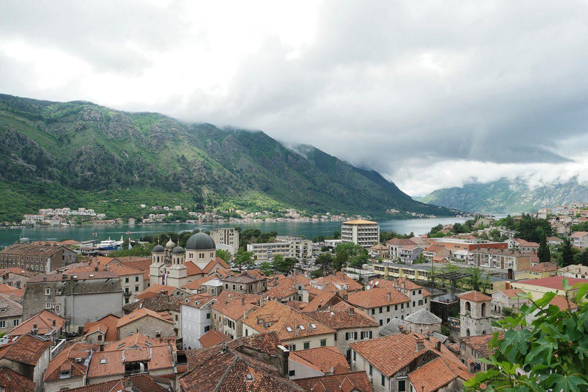 Les bouches de Kotor depuis la forteresse de Kotor